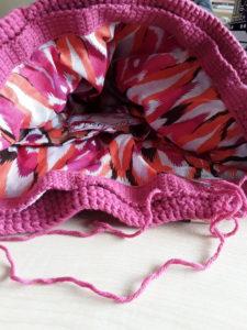 pink bag linin